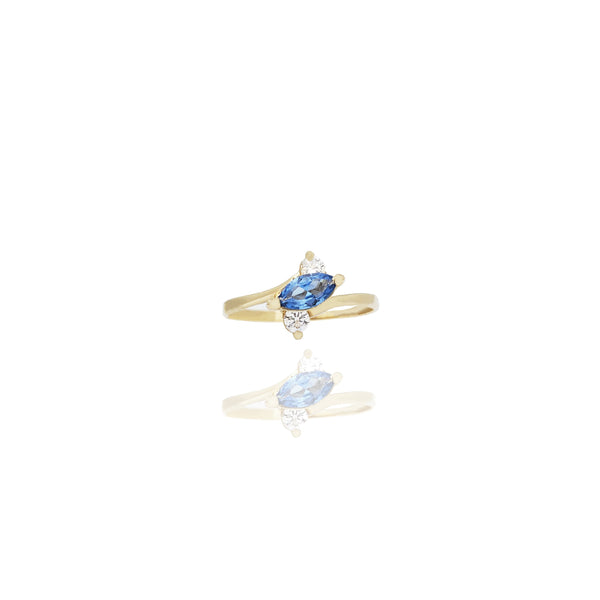 Marquise Cut Gemstone Ring (14K)
