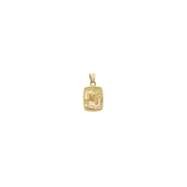 Baby Baptism Rectangle Pendant (14K) Popular Jewelry New York
