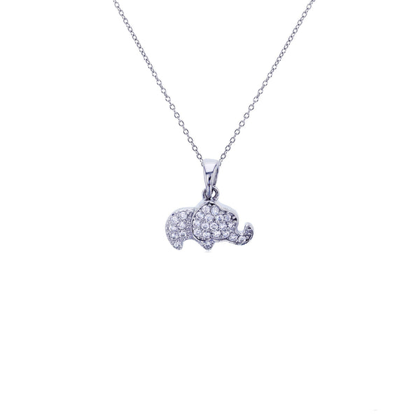 Baby Elephant Necklace (Silver)