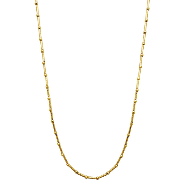 Ball Bar Diamond Cut Chain (14K) Popular Jewelry New York