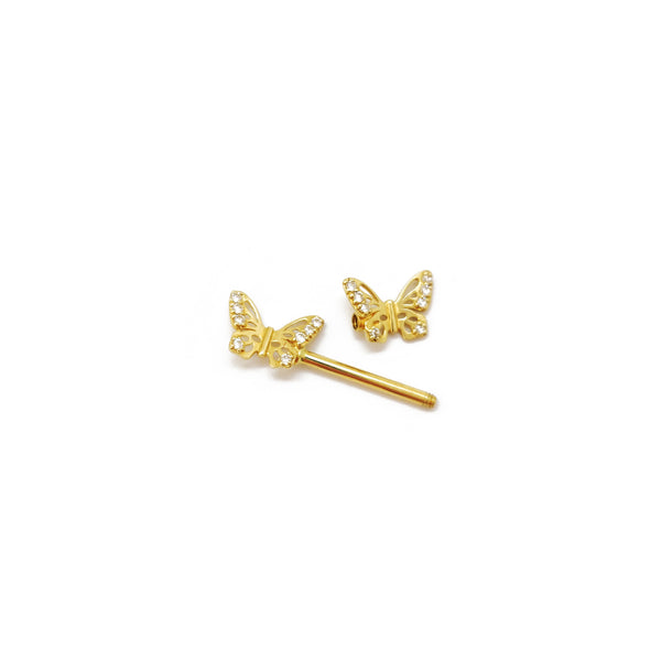 Barbell Butterfly (14K) Popular Jewelry New York