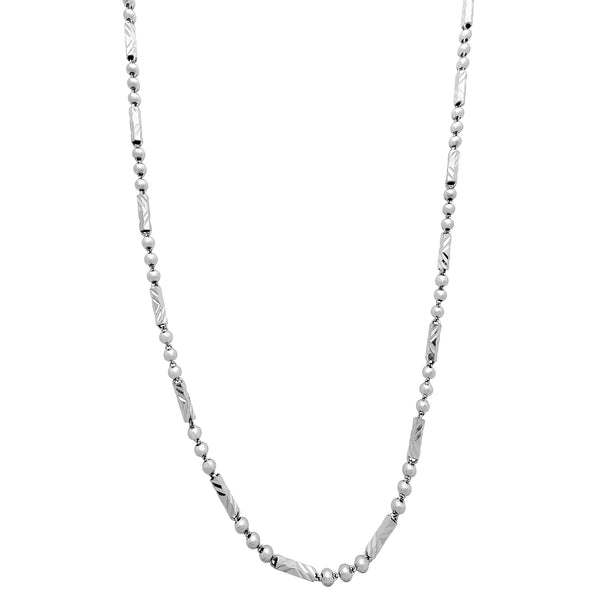 Barrel & Ball Diamond Cuts Chain (Silver) Popular Jewelry New York