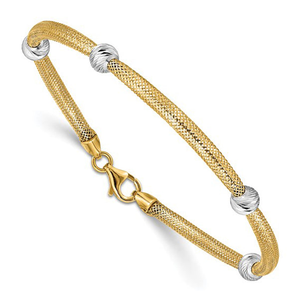 Beads & Mesh Bracelet (14K) Popular Jewelry New York