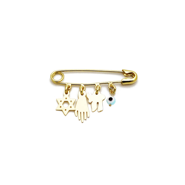 Blessed Charms Safety Pin (14K) Popular Jewelry New York