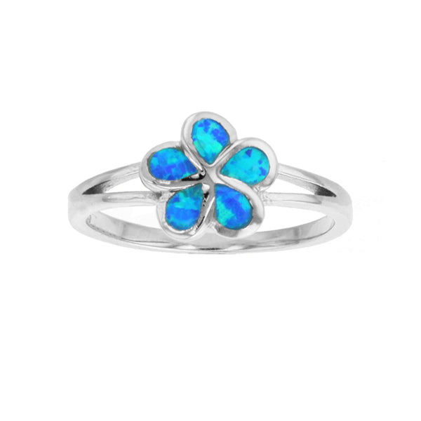 Blue Opal Flower Ring (Silver) Popular Jewelry New York