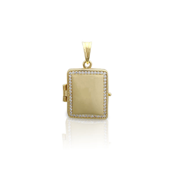 Colgante Locket para libro (Stones) (14K) Popular Jewelry nova York