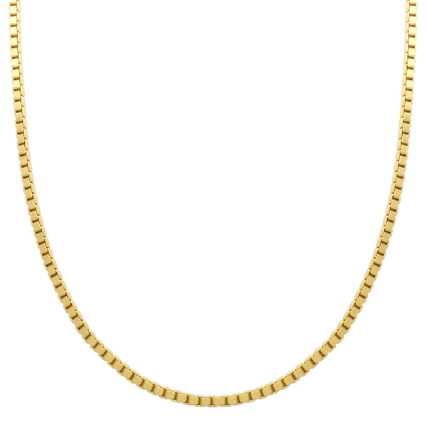 Box Chain (14K) 14 Karat Yellow Gold Popular Jewelry