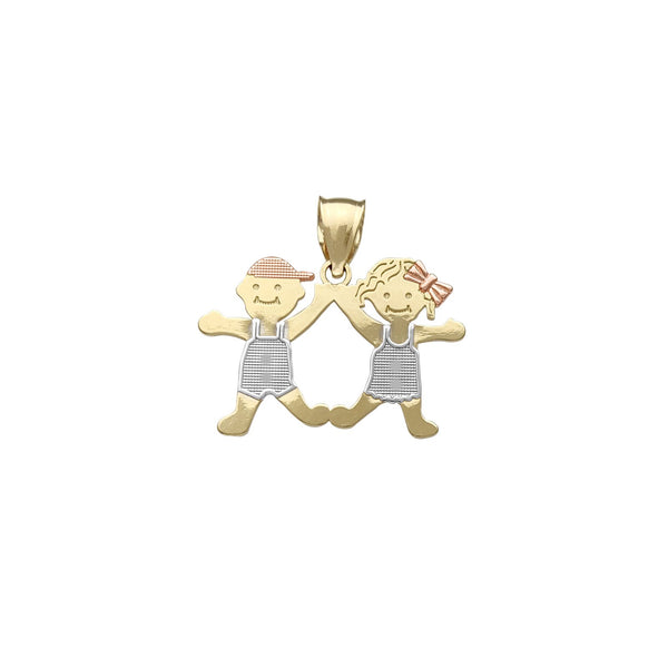 Boy & Girl Pendant (14K)