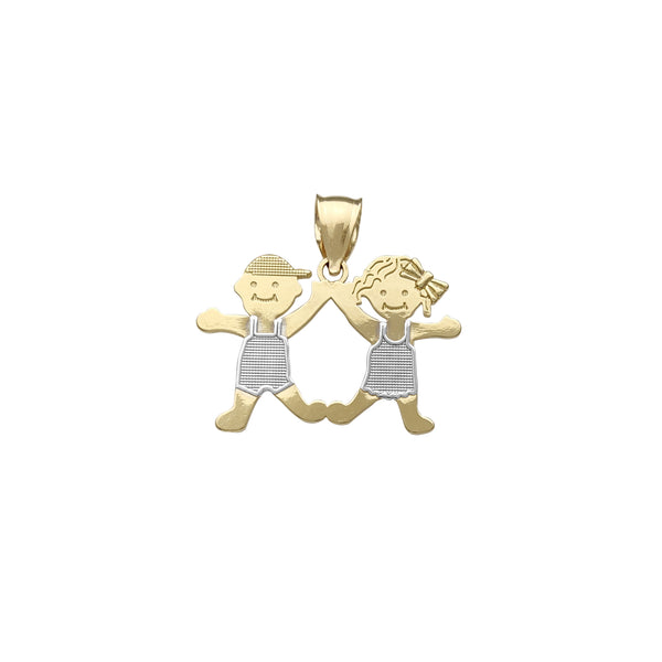 Boy & Girl Pendant (14K) Popular Jewelry New York