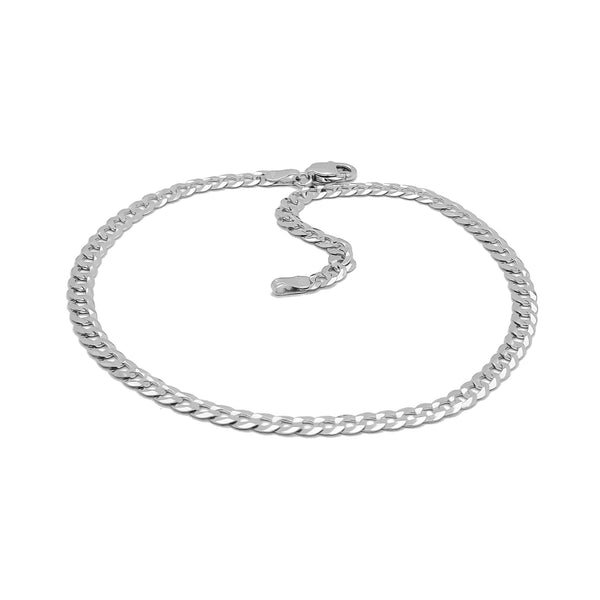 Italian Cuban Anklet (Silver) Popular Jewelry New York