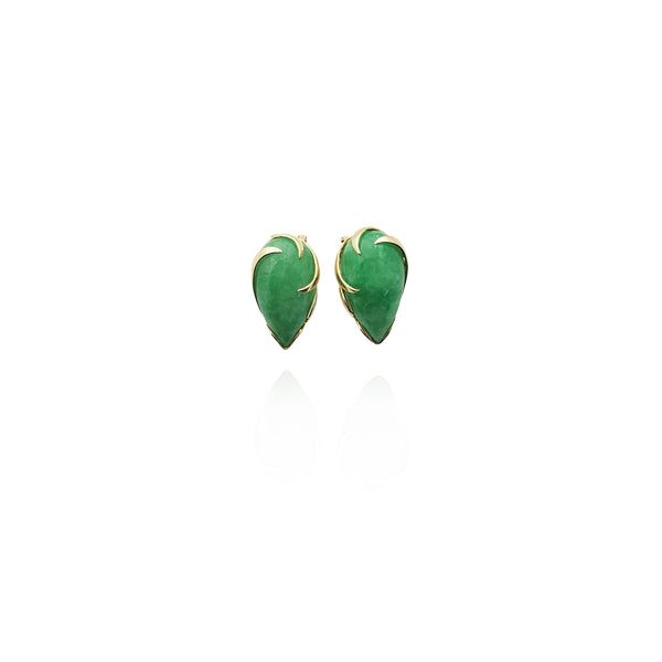 Briolette Jade Earrings (14K) New York Popular Jewelry