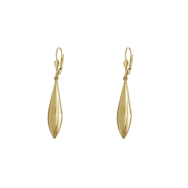 Brushed Finish Drop Earrings (14K) Popular Jewelry New York