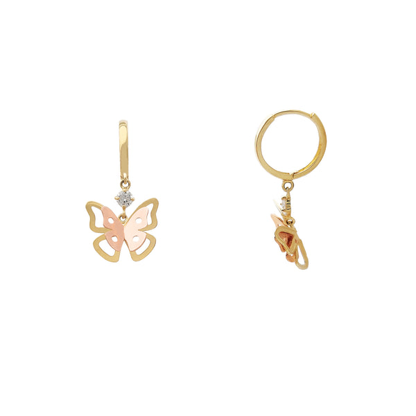 Butterfly Hanging Earrings (14K) Popular Jewelry New York