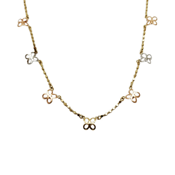 Butterfly Charm Fancy Necklace (14K)