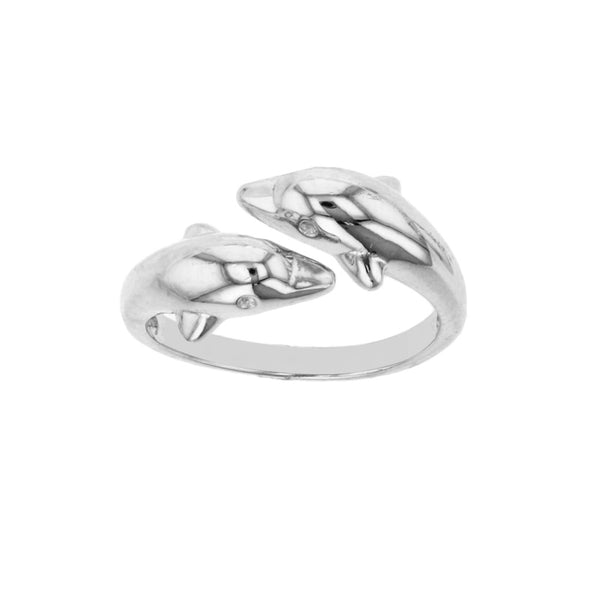 Bypass Dolphin Ring (Silver) Popular Jewelry New York