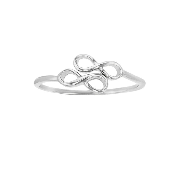 Bypass Infinity Sign Ring (Silver) Popular Jewelry New York