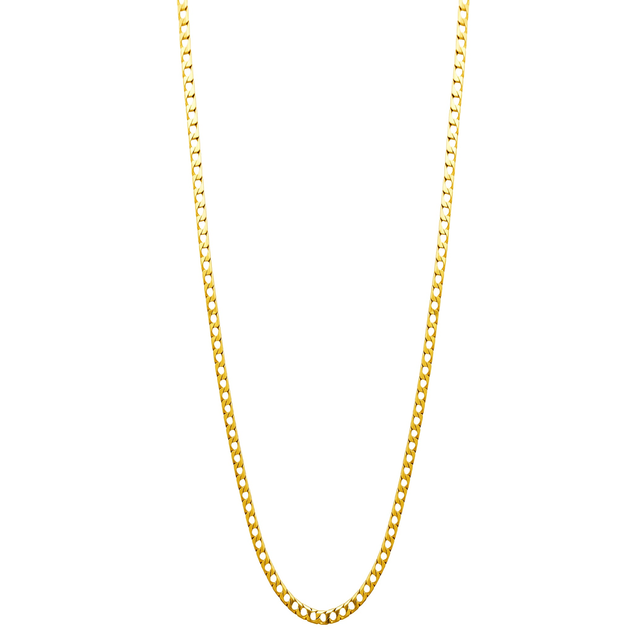 Square Curb Chain (14K)