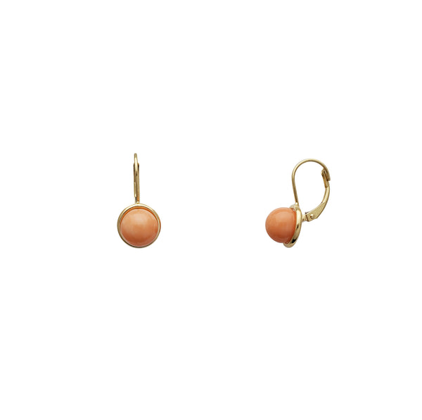 Coral Earrings (14K)