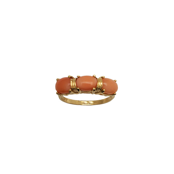 Oval Coral Ring (14K)