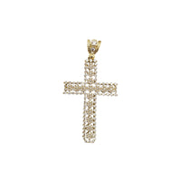Puka Iced-Out Cross (10K)
