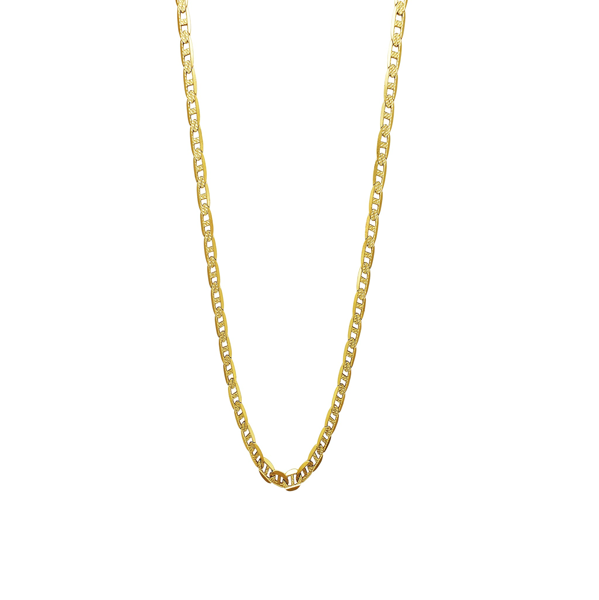 Carved Mariner/Gucci Chain (14K)