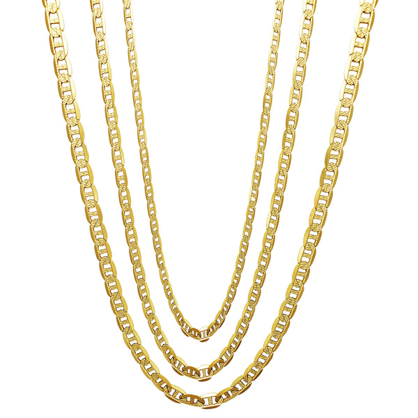 Carved Mariner/Gucci Chain (14K) Popular Jewelry New York
