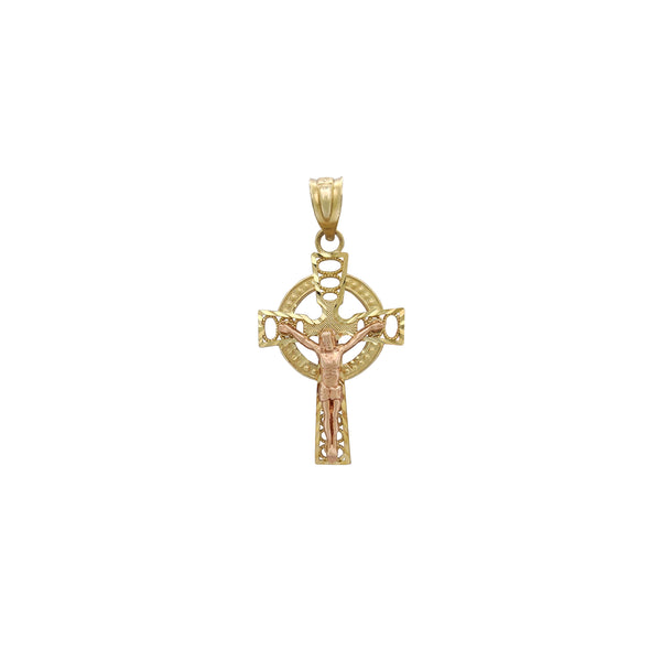 Celtic Cross Crucifix Pendant (14K)