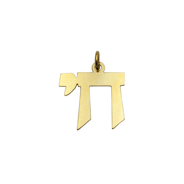 Chai Geometrical obesek (14K) spredaj - Popular Jewelry - New York