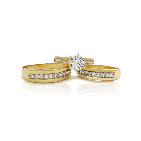 Channel-Setting Three Piece-Set Ring (14K) Popular Jewelry New York