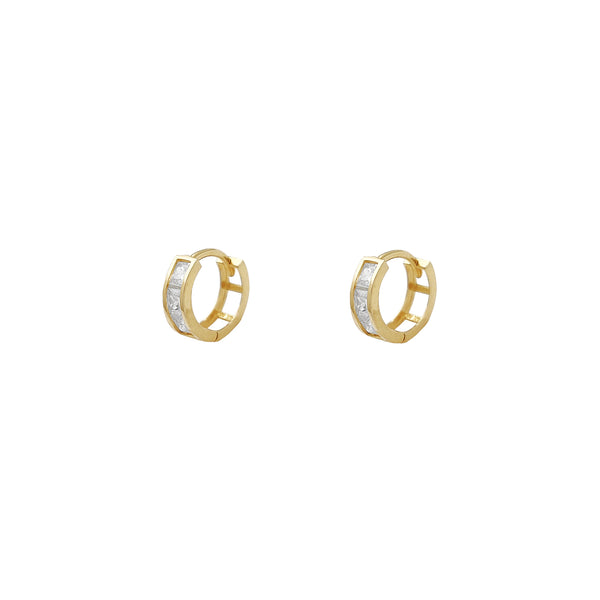 Channel Setting Mini Huggie Earrings (14K) Popular Jewelry New York