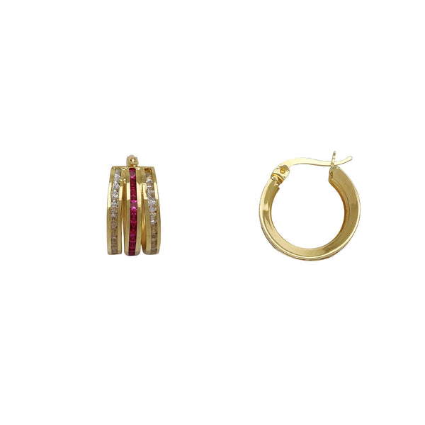 Channel Setting Trio-Huggie Earrings (14K) Popular Jewelry New York