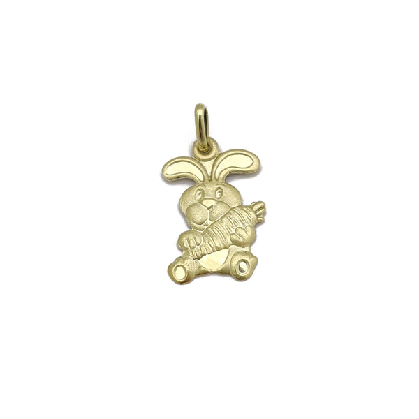 [兔] Chinese Zodiac Rabbit Pendant (14K) Popular Jewelry New York