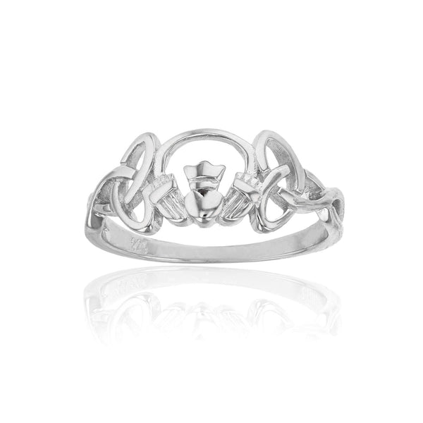 Claddagh Trinity Knot Ring (Silver) Popular Jewelry New York