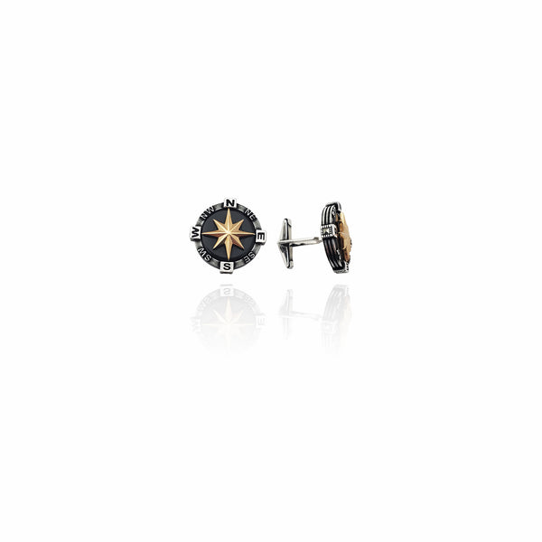 Compass Cuff Link (Argento) New York Popular Jewelry
