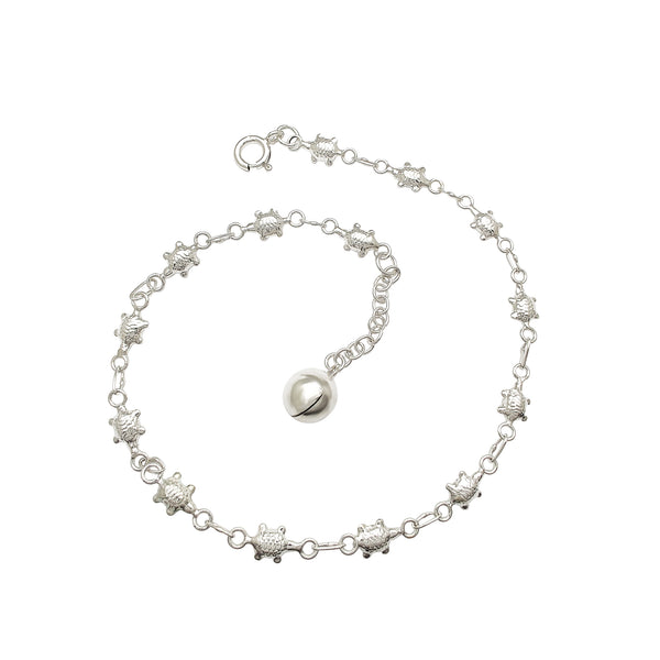 Turtle Anklet (Silver)