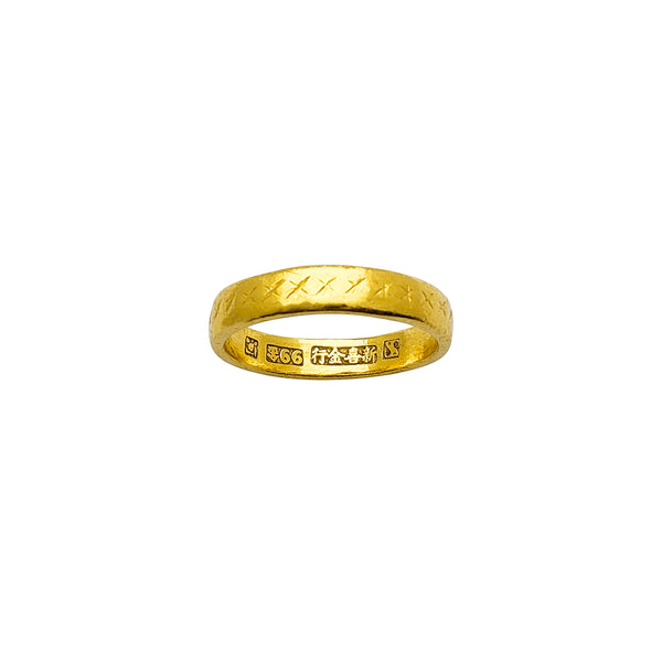 Cross Stitch Patterns Wedding Band Ring (24K) Popular Jewelry New York