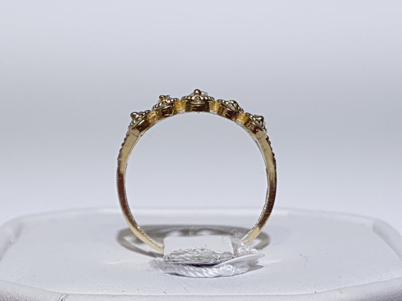 Tiara Cocktail Ring CZ 14K - Lucky Diamond 恆福珠寶金行 New York City 169 Canal Street 10013 Jewelry store Playboi Charlie Chinatown @luckydiamondny 2124311180