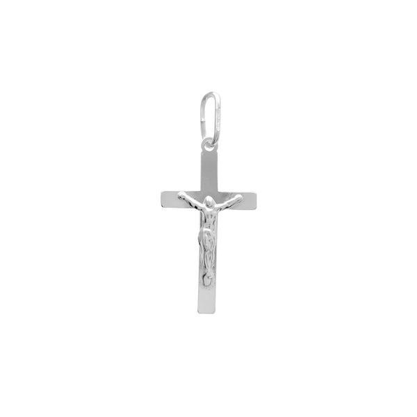 Crucifix Plain Cross Pendant (Silver) Popular Jewelry New York