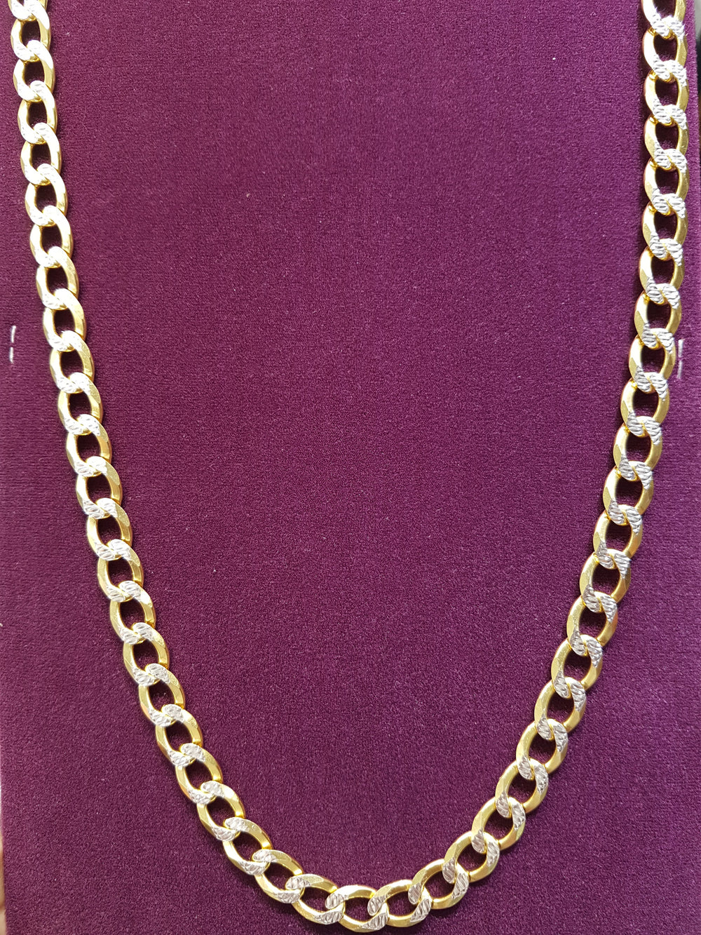 Two-Tone Cuban Link Silver - Popular Jewelry