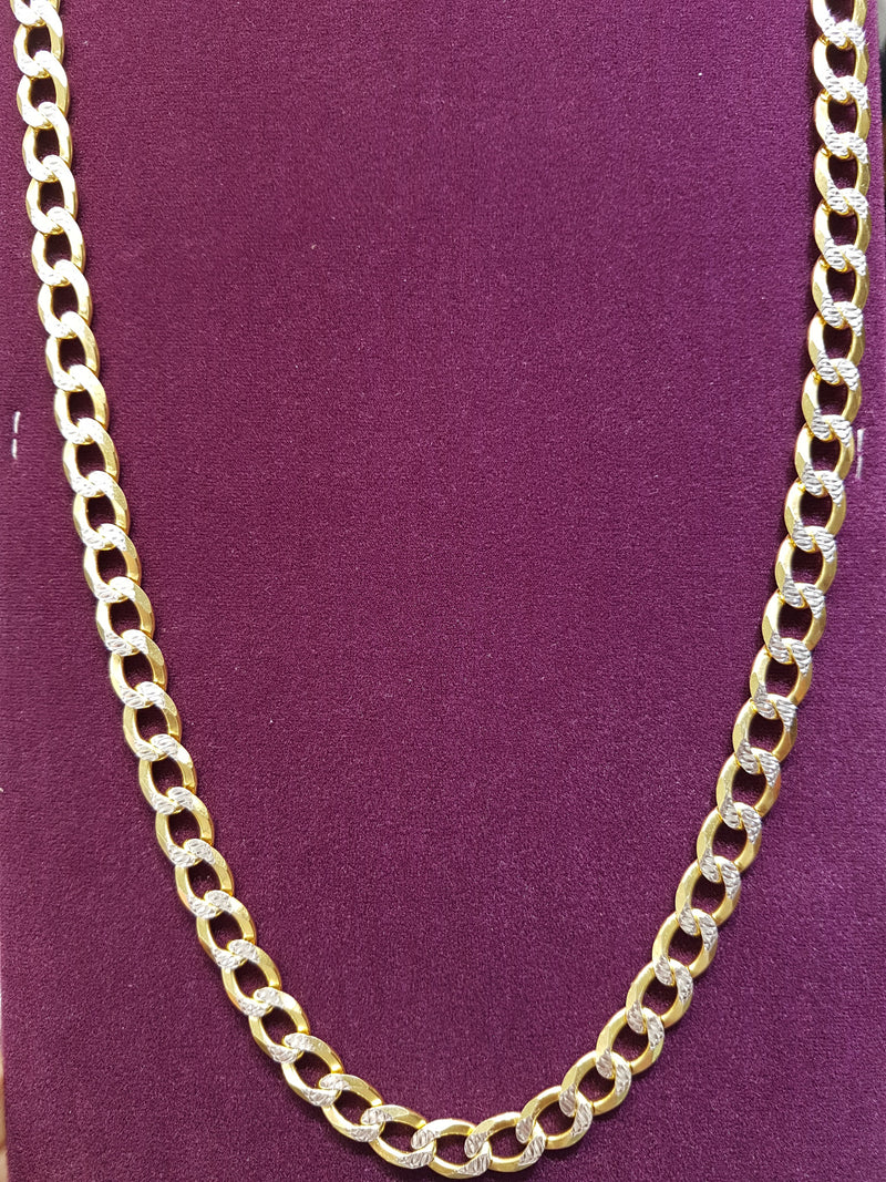 Two-Tone Cubanlink Chain Silver - Lucky Diamond 恆福珠寶金行 New York City 169 Canal Street 10013 Jewelry store Playboi Charlie Chinatown @luckydiamondny 2124311180