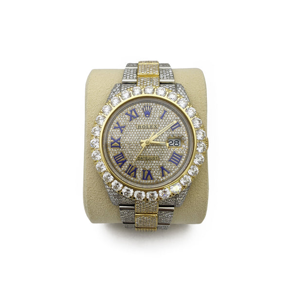 Custom Diamond Rolex Watch DATEJUST 41 mm (126333) - Front