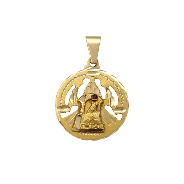 D-cuts Saint Barbara Medallion Pendant (14K) Popular Jewelry New York