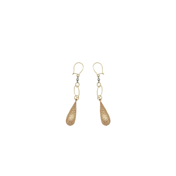 Tricolor Dangling Earrings (14K)