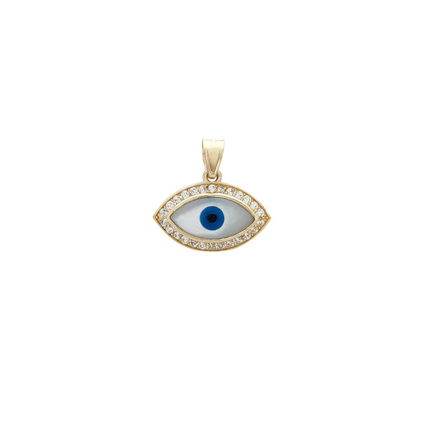 Däischterblo Halo Icy Evil Eye Pendant (14K) Popular Jewelry New York