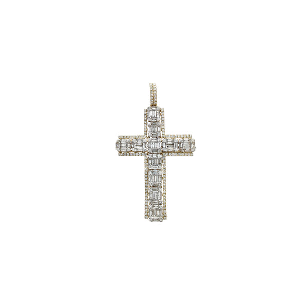 Diamodn Iced-Out Cluster Cross Pendant (14K) Popular Jewelry Νέα Υόρκη