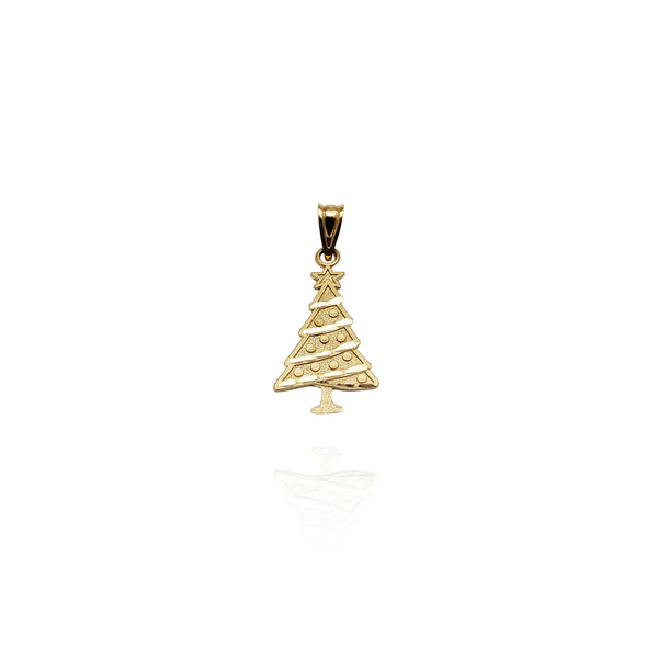 Diamond-Cut Christmas Tree Pendant (14K)