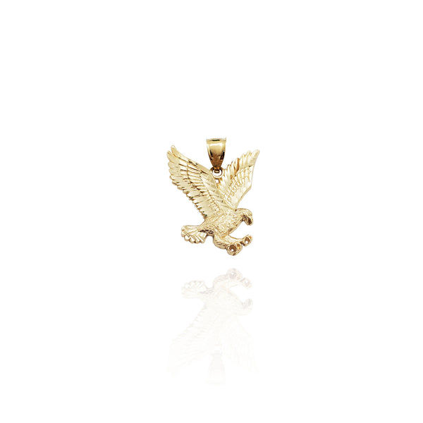 Diamond-Cut Eagle Pendant (14K)