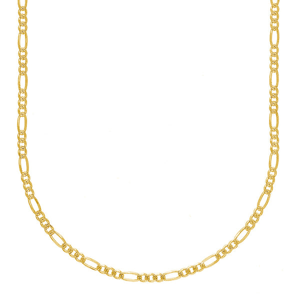 Diamond-Cut Figaro Chain (14K) Popular Jewelry New York