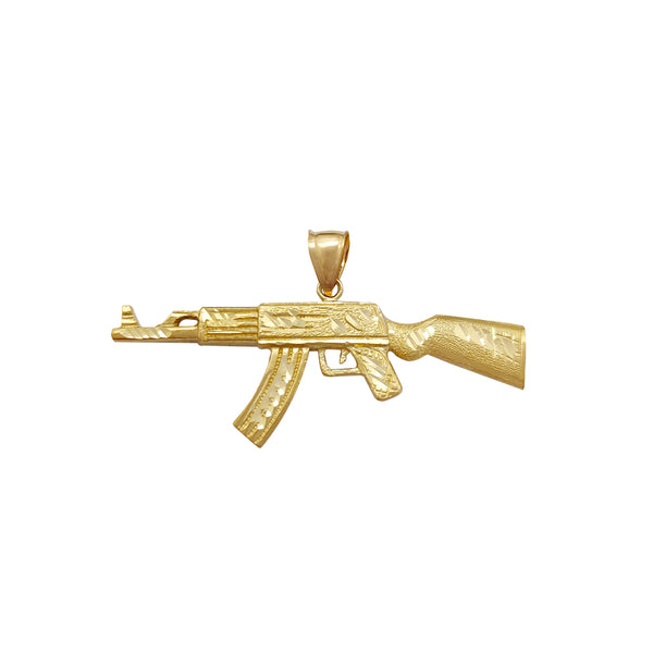 Diamond-Cuts Rifle Pendant (10K) Popular Jewelry New York