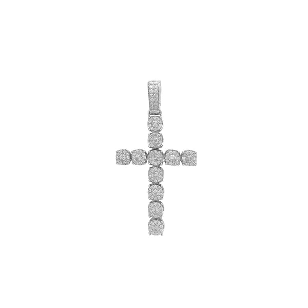 Diamond Cluster Budded Cross Pendant (14K) Popular Jewelry Νέα Υόρκη
